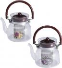Чайник заварочный Wellberg Borosil 2200мл стеклянный