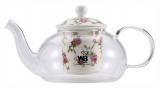 Чайник заварочный Wellberg Fannings 500мл стеклянный с керамическим фильтром