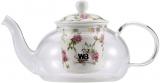 Чайник заварювальний Wellberg Fannings 700мл скляний з керамічним фільтром