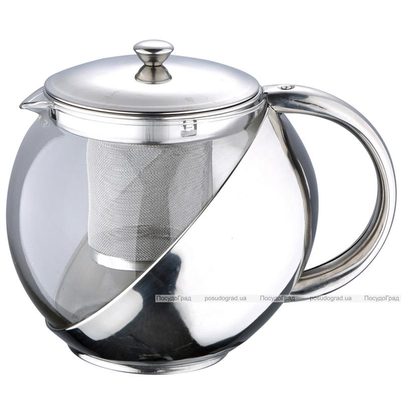 Чайник заварочный Wellberg Trendy 1000мл с фильтром из нержавеющей стали