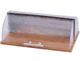 Хлебница Wellberg Style 7006 Нержавейка, Дерево, Пластик