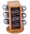 Набор для специй Wellberg Relish 6 емкостей и бамбуковая подставка