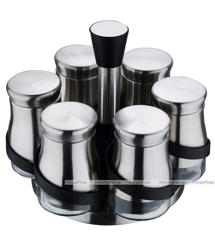 Набор для специй Wellberg Condimento 6 емкостей 150мл на подставке