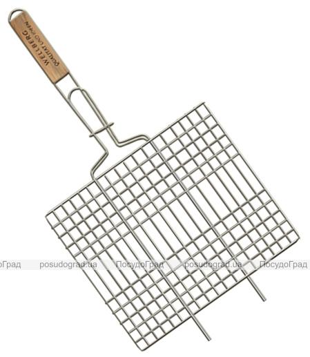Решетка для барбекю Wellberg 22х34см плоская