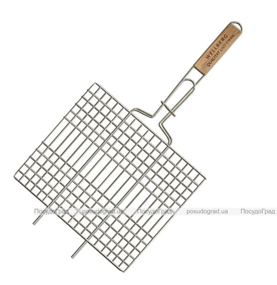 Решетка для барбекю Wellberg 30х40см плоская