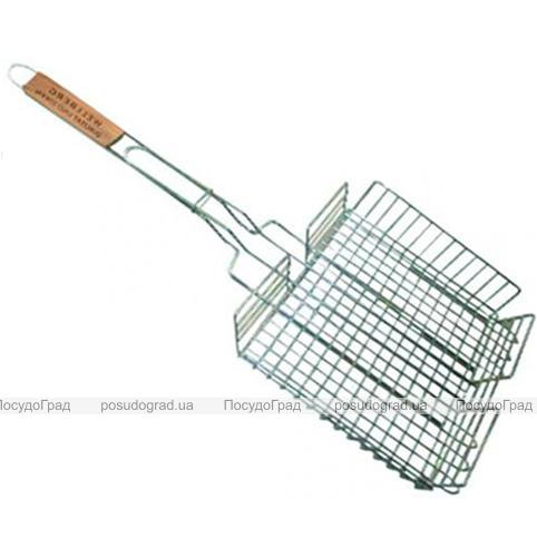 Решетка для барбекю Wellberg 40х30х6см объемная