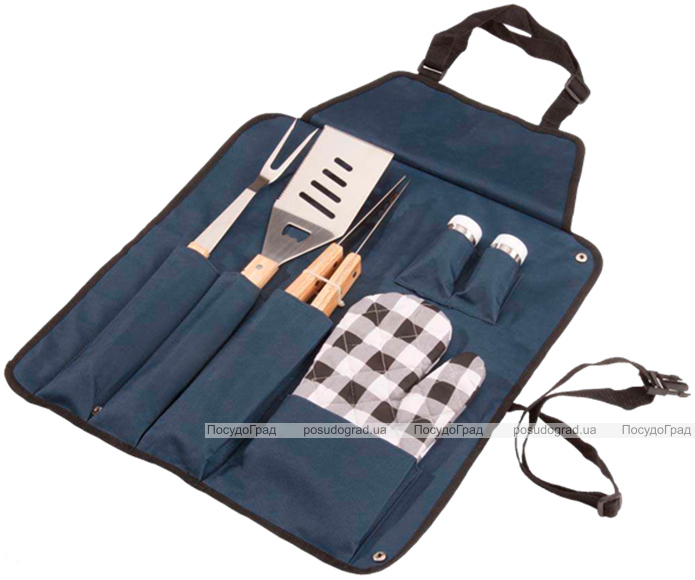 Набор для барбекю Wellberg фартук-сумка и 6 предметов