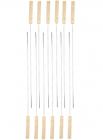 Набор 12 шампуров Wellberg 480х25мм с деревянной ручкой