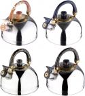 Чайник Wellberg Marble 3л з нержавіючої сталі, зі свистком