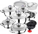 Набор кухонной посуды Zep House Cottbus 17 предметов с термодатчиками на крышках